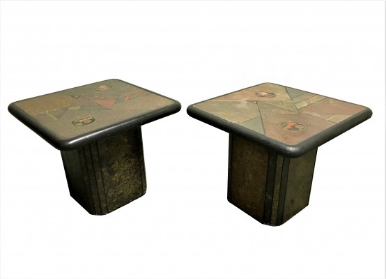 Pair of vintage side tables by Paul Kingma, 1970s