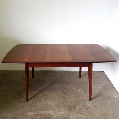 Extendable dining table in teak, Netherlands 1960s