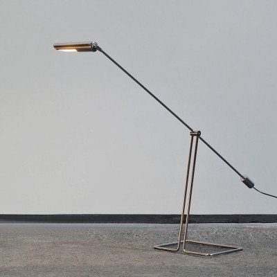 Minimalistic counterbalance floorlamp by Abo Randers, Denmark 1979