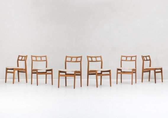 6 dining chairs designed by Johannes Andersen, Denmark 1950s
