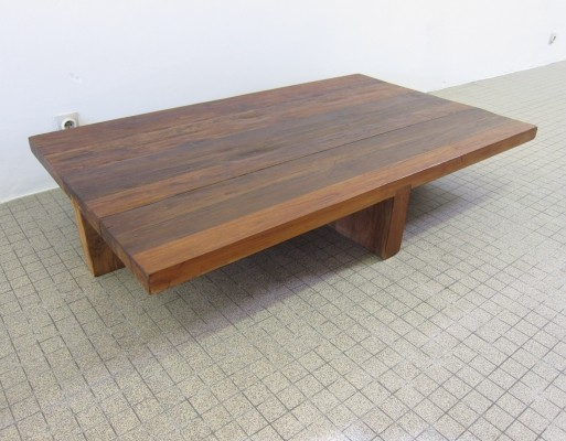 Vintage wooden coffee table, 1980s
