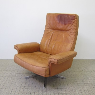 Vintage design De Sede ds35 highback lounge chair, 1970s