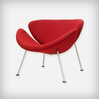 Early Dutch Red 'Orange Slice' Lounge Chair by Pierre Paulin for Artifort
