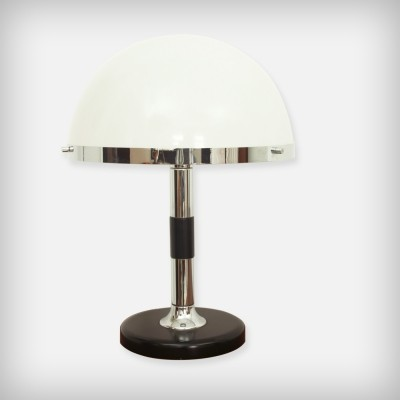 Swiss Chrome & Perpex Desk Lamp from Temde Leuchten, 1970s