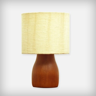 Small Danish Solid Teak Desk Lamp, 1960s