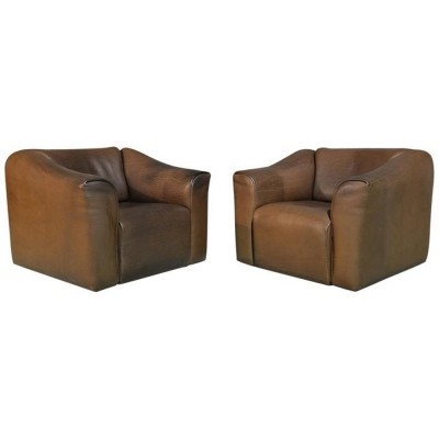 Pair of DS 47 arm chairs by De Sede, 1970s