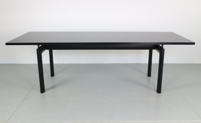 Early Version LC6 Dining Table in Black Ash by Le Corbusier for Cassina, 1974
