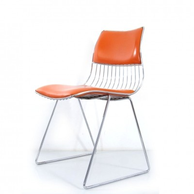 Orange Rudi Verelst Chair for Novalux, 1970s