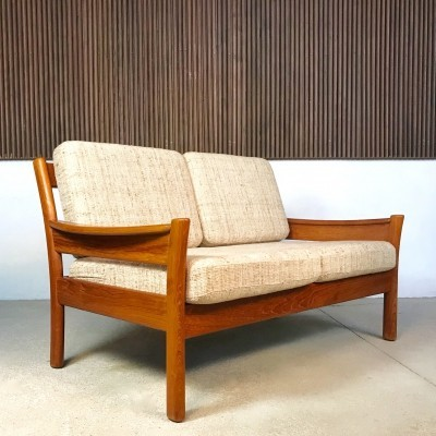 Danish Teakwood & Wool Two-Seater Sofa by Dyrlund, 1960s