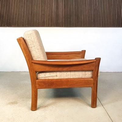 Danish Teakwood & Wool Easy Chair by Dyrlund, 1960s