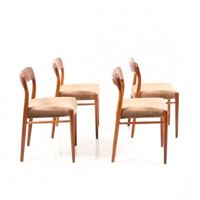 Set of 4 'Model 75' Dining Chairs by Niels O. Moller
