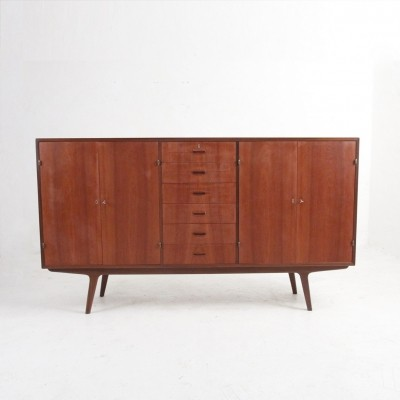 Teak sideboard with 2 doors & six drawers