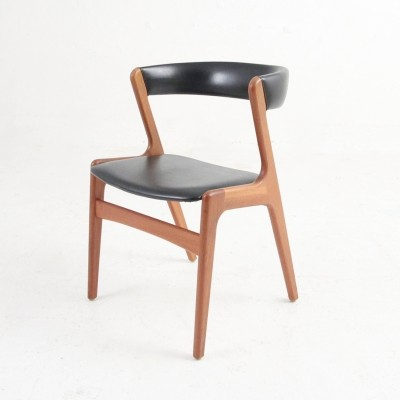Kai Kristiansen Chair in teak with black skai