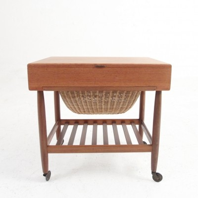Sewing table in teak by Ejvind A. Johansson