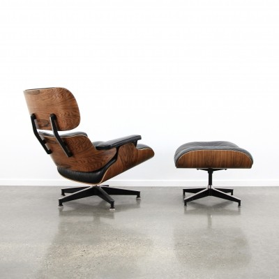 Eames lounge chair + ottoman by Herman Miller, 1980s