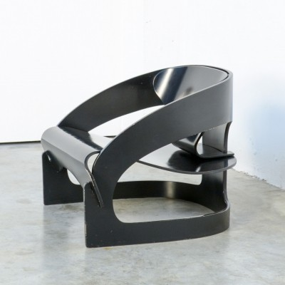 Plywood Armchair 4801 by Joe Colombo for Kartell, 1960s