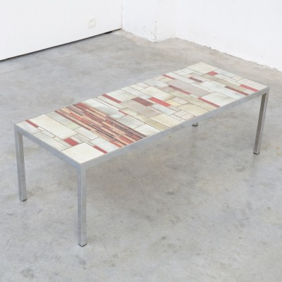 Unique Tile Coffee Table by Pia Manu, 1960s