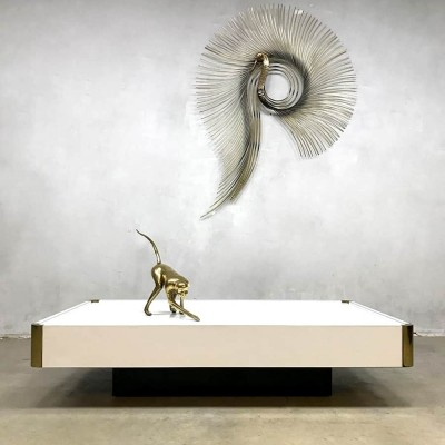 Vintage design Italian coffee table by Willy Rizzo for Mario Sabot