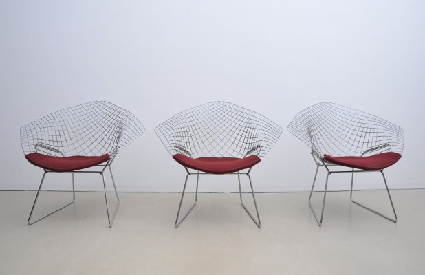 5 x Diamond lounge chair by Harry Bertoia for Knoll International, 1950s