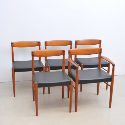 Set of 5 dinner chairs by Henry W. Klein for Bramin, 1950s