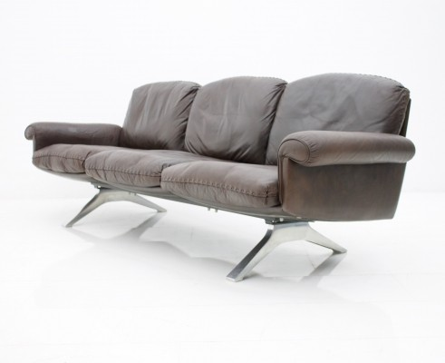De Sede Leather 'DS 31' Sofa with Chrome Base, Switzerland 1970s