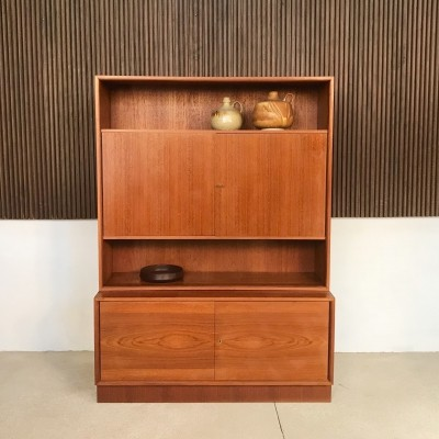 German Teak Wall Unit Cabinet by Wilhelm Franzmeyer-Möbel, 1960s
