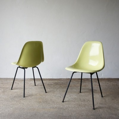 Pair Of Fibreglass Eames DSX Chairs For Herman Miller