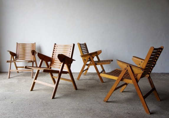 Set Of 4 Rex Chairs By Niko Kralj
