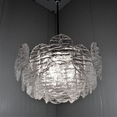 Large Kalmar Chandelier with Ice Glass Discs