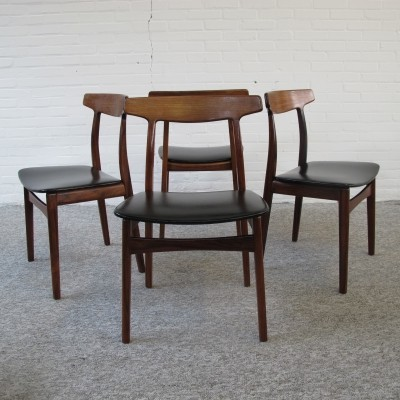 Set of 4 Danish rosewood dining chairs by Henning Kjærnulf
