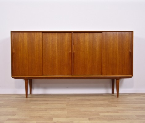 Danish highboard in teak by Gunni Omann for Omann Jun, 1960s