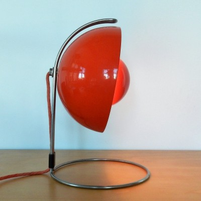 Red VP4 Flowerpot table lamp by Verner Panton for Louis Poulsen, Denmark 1968