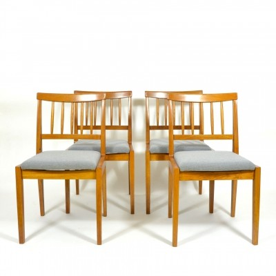 Set of 4 Oak Dining Chairs, 1970s