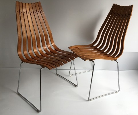 Pair of 'Scandia' Chairs by Hans Brattrud, c.1960