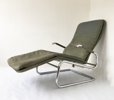 'Cicero' Reclining Leather Chaise by Dux, c.1970