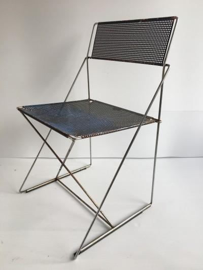 6 X-Line Chairs by Niels Jørgen Haugesen for Hybodan, c.1970