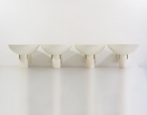 4 Philips vintage Louis Kalff wall lamps, 1960s