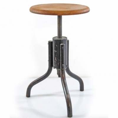 Adjustable Industrial Bauhaus stool, 1930s