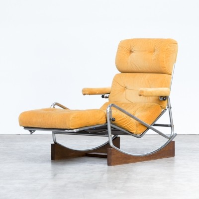 60s French lounge rocking chair by Lama