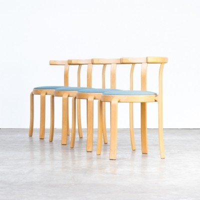 Set of 4 dining chairs by Rud Thygesen & Johnny Sorensen for Magnus Olesen, 1980s