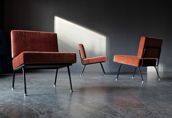 Set of 3 Model 31 lounge chairs by Knoll, 1960s