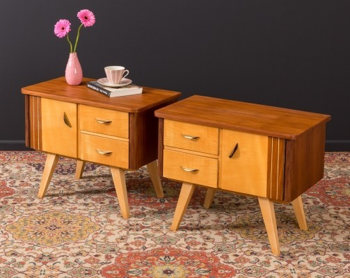 Pair of German bedside tables from the 1950s
