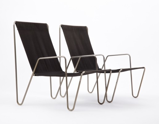 Pair of Bachelor lounge chairs by Verner Panton for Fritz Hansen, 1960s