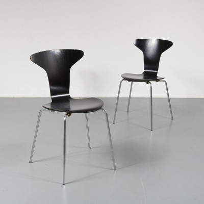 2 x dinner chair by Arne Jacobsen for Fritz Hansen, 1970s