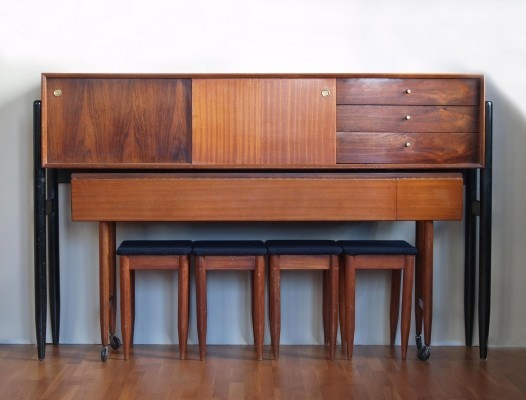 Rare Unit combo, Sideboard & Dining set by Arthur Edwards for White & Newton
