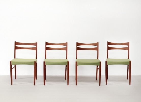 Set of four Danish design dining chairs, 1960s