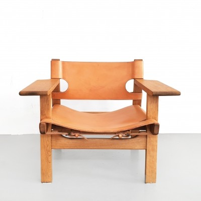 Spanish lounge chair by Børge Mogensen for Fredericia, 1950s