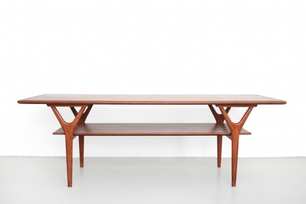 Wishbone coffee table by Kurt Østervig for Jason Möbler, 1950s