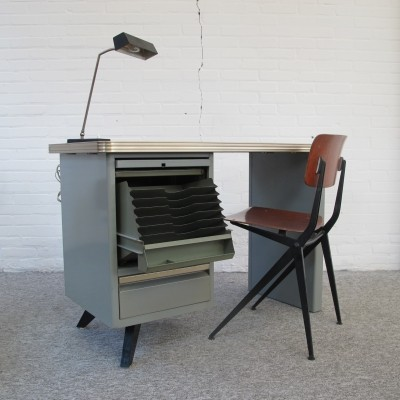 Old industrial office desk by Atal France, 1960s