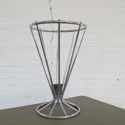 Chromed Art Deco umbrella stand, 1930s